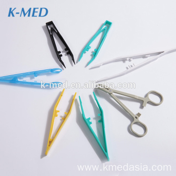 Wholesale medical colourful plastic surgical tweezers